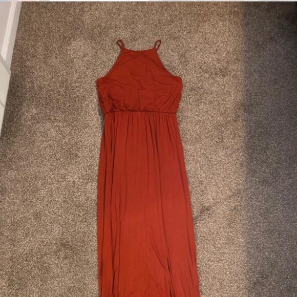 bc1085edf3a5 Forever 21 Dresses | Burnt Orange Maxi Dress | Poshmark